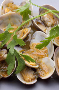 Mango Lime Buttered Clams